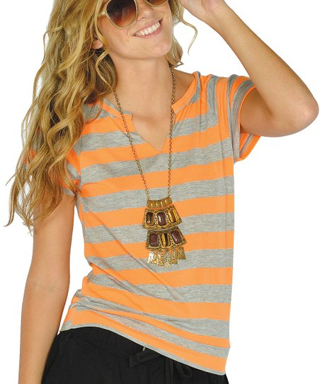 Neon Orange Open-Back Top