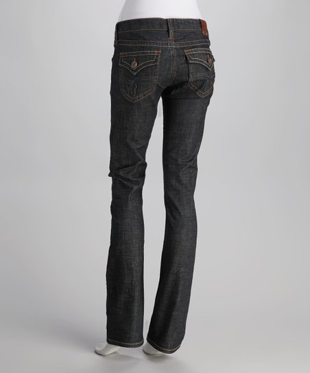 Laguna Beach Dark Blue Crystal Cove Straight-Leg Jeans