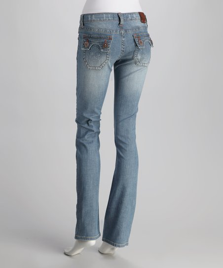 Laguna Beach Light Blue Huntington Beach Straight-Leg Jeans