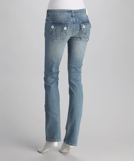Laguna Beach Light Blue Hermosa Beach Straight-Leg Jeans
