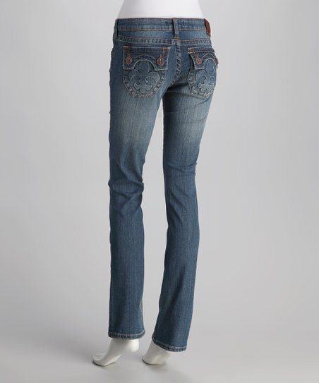 Laguna Beach Medium Blue Hermosa Beach Straight-Leg Jeans