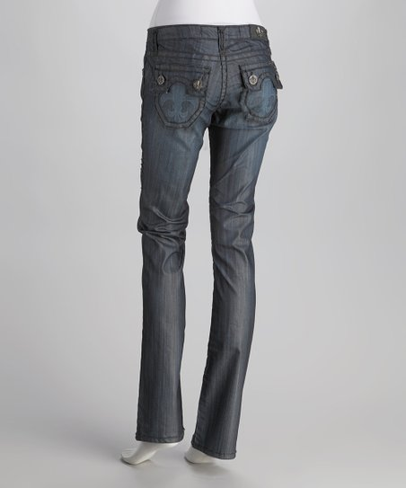 Laguna Beach Raw Blue Hermosa Beach Tattoo Straight-Leg Jeans