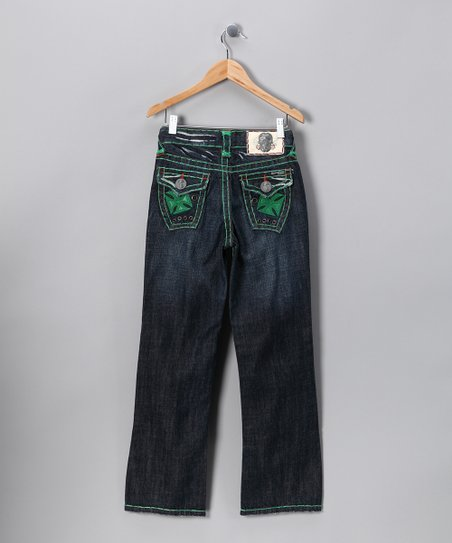 Green Stitch Newport Beach Jeans - Boys