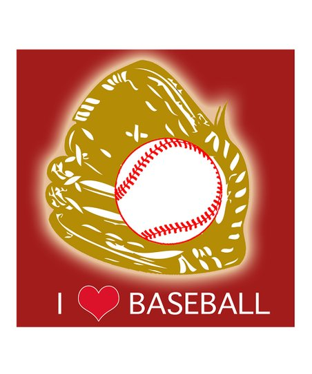 'I Love Baseball' Wall Art