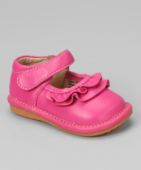 Laniecakes Hot Pink Ruffle Squeaker Mary Jane