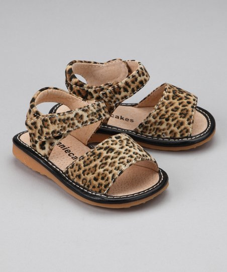 Leopard Squeaker Sandal