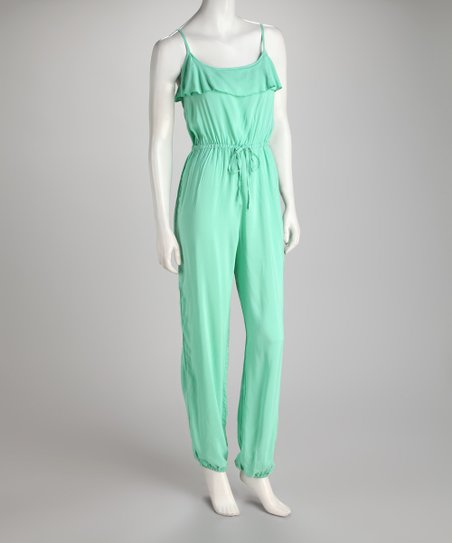Mint Ruffle Jumpsuit