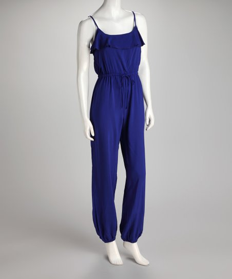 Royal Blue Ruffle Jumpsuit