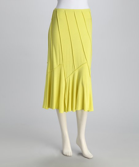 Yellow Convertible Swoop Skirt
