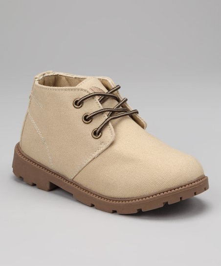 Tan Desert Boot - Kids