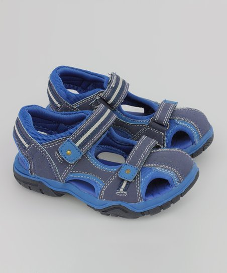 Navy & Sky Playground Sandal - Kids