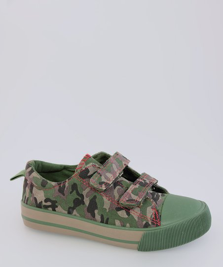 Green Camo Sneaker - Kids