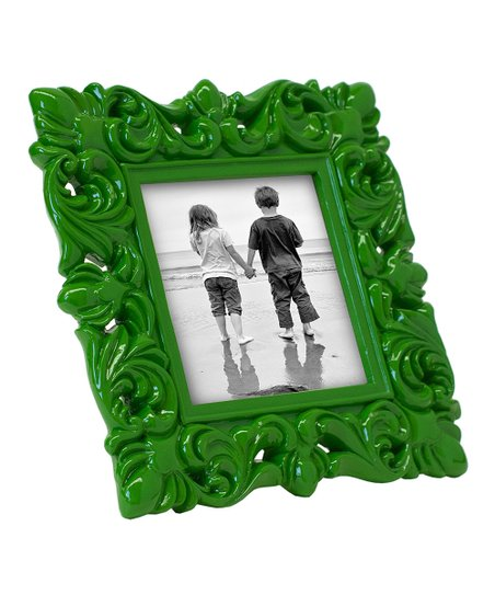 Green Flourish 4'' x 4'' Frame