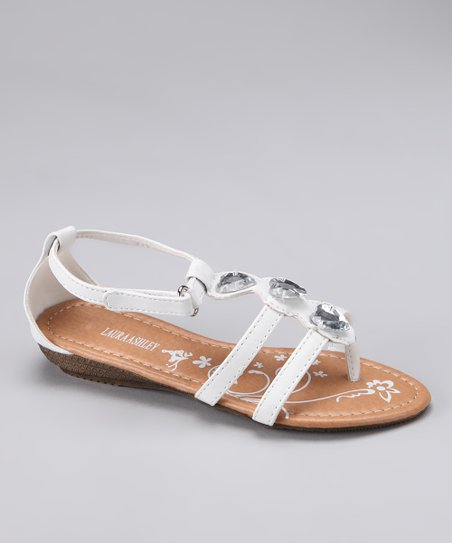White Heart Gem Sandal
