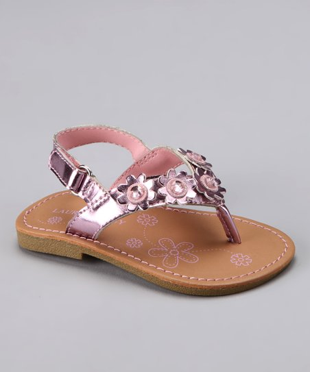 Pink Flower Jewel Sandal