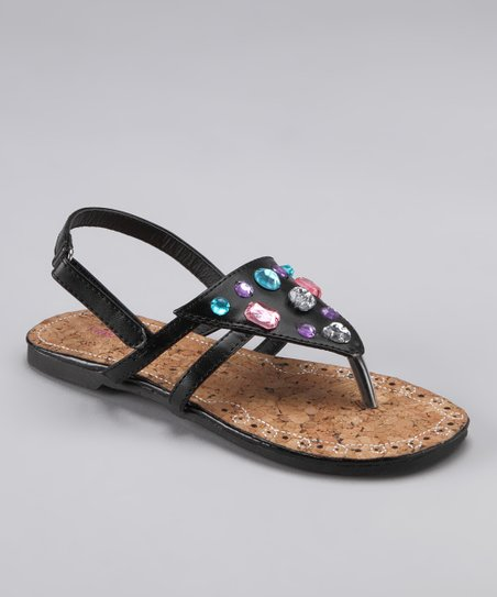 Black Jewel Sandal
