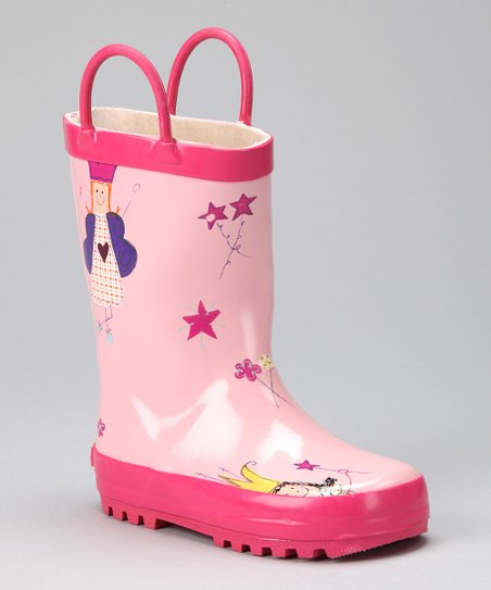 Light Pink Princess Rain Boot