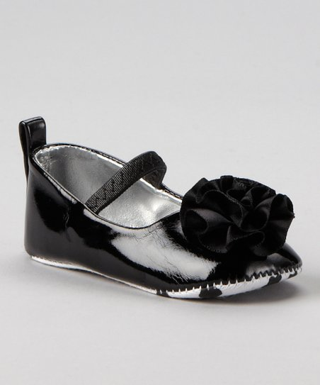 Black Patent Rose Bootie