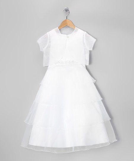 White Tiered Dress & Shrug