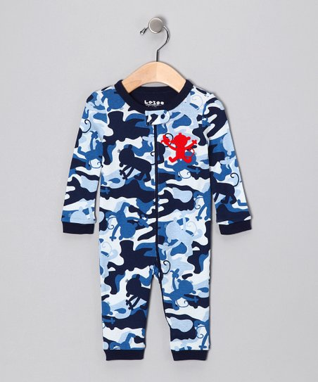 Blue Camo Monkey Playsuit - Infant