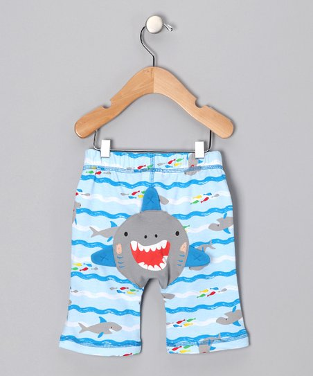 Blue Wave Shark Pants - Toddler