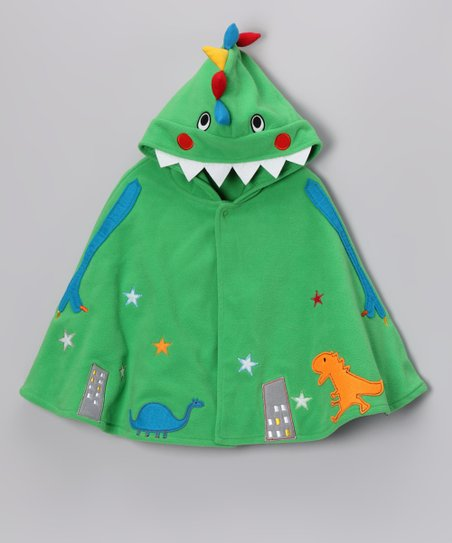 Green Dino Hooded Poncho