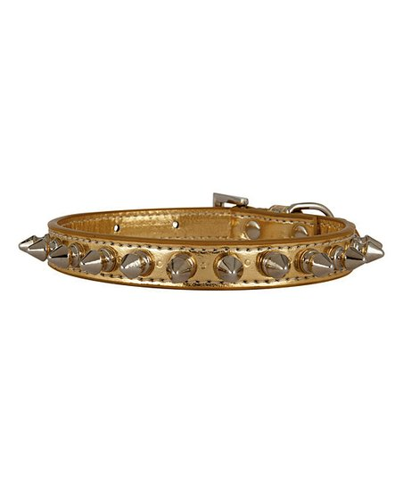 LazyBonezz Gold Spike Collar