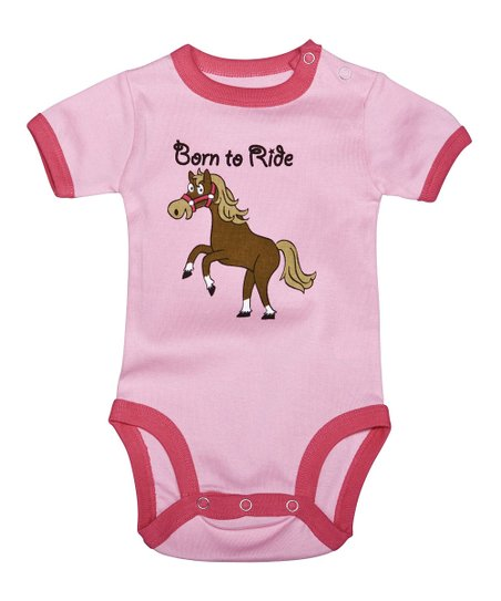 Pink 'Born to Ride' Bodysuit - Infant