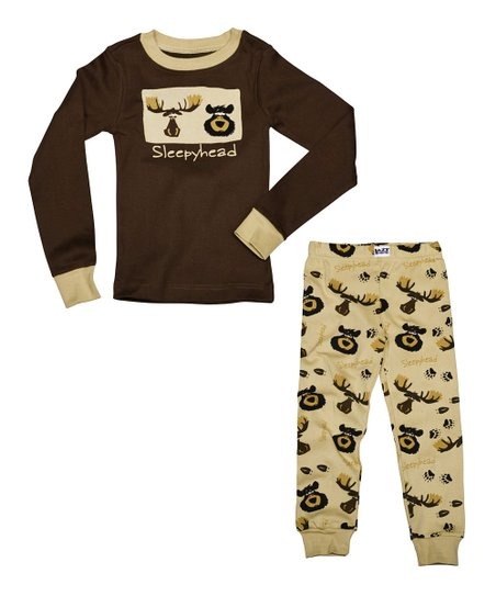 Brown 'Sleepyhead' Pajama Set - Toddler & Kids