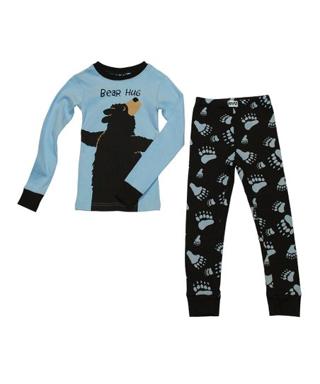 Blue &#039;Bear Hug&#039; Pajama Set - Toddler &amp; Kids