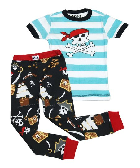 Blue Stripe Pirate Pajama Set - Toddler & Kids