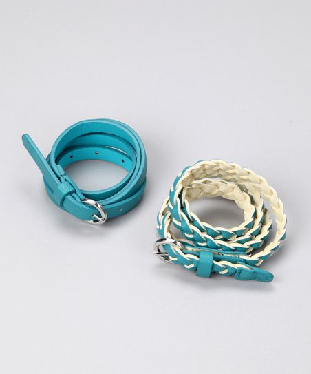 Blue Braided Belt Set
