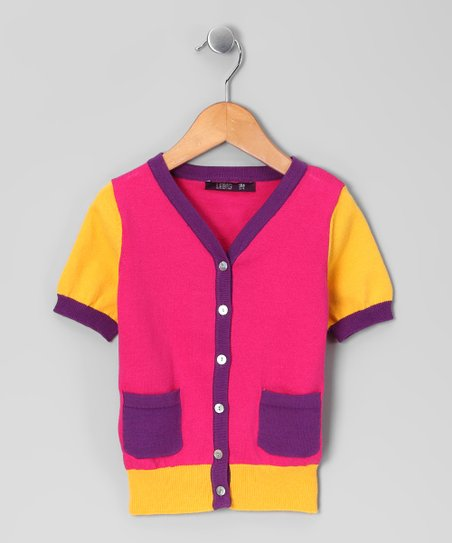 Super Pink Cardigan - Infant, Toddler & Girls