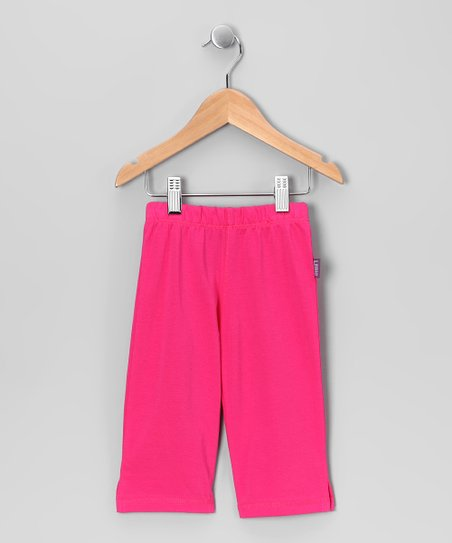 Super Pink Cropped Leggings - Infant, Toddler & Girls
