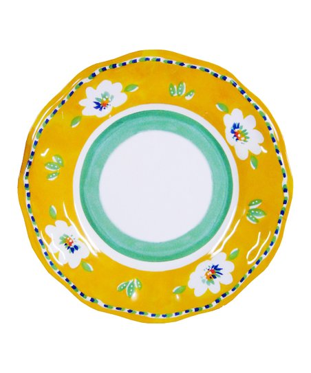 Yellow Campania Salad Plate