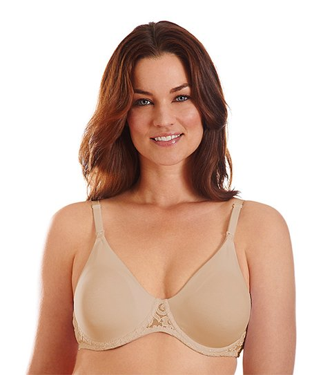 Nude Lace-Trim Underwire Nursing Bra