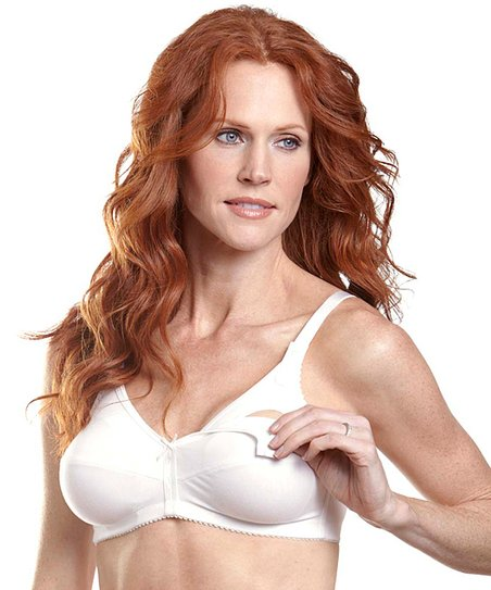 White Wireless Nursing Bra