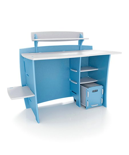 Legar Blue &amp; White Desk Set