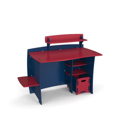 Legaré Navy & Red Desk Set