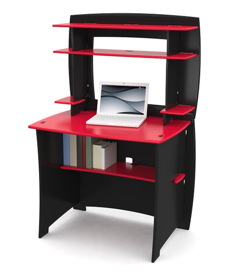 Legaré Red & Black Desk & Hutch