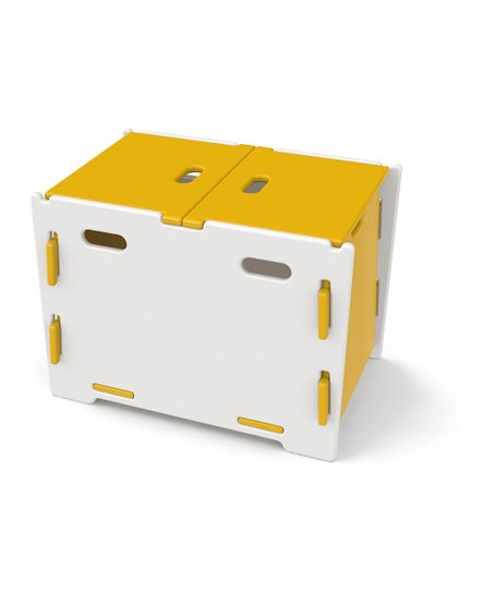 Legaré Yellow & White Toy Box