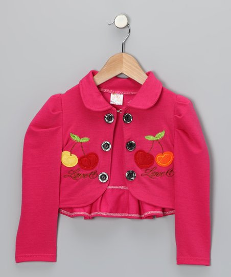 Fuchsia Cherry Bolero - Infant, Toddler &amp; Girls