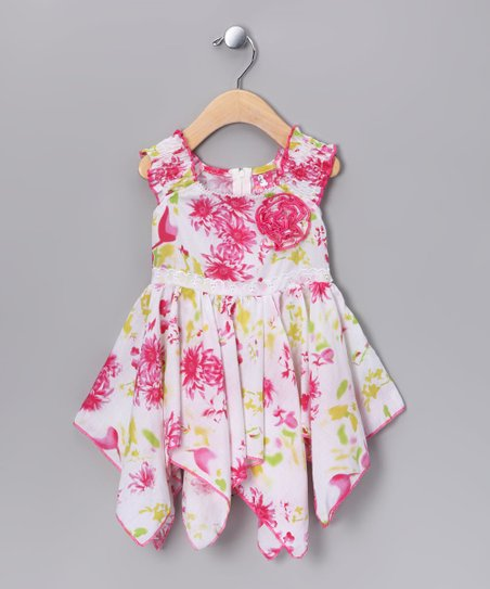 Pink Handkerchief Dress - Infant & Toddler