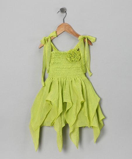 Lime Handkerchief Dress - Toddler & Girls