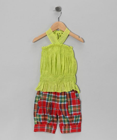 Lime Halter Top & Capri Pants - Toddler & Girls