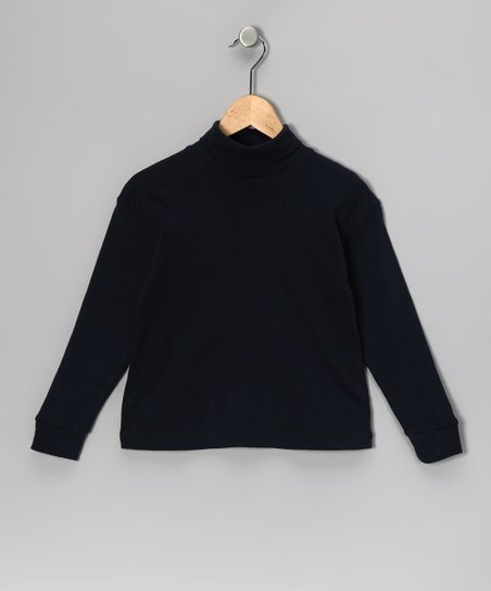 Navy Turtleneck - Toddler & Kids