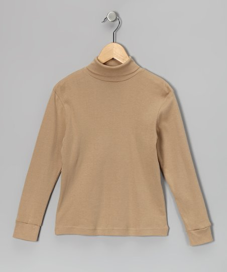 Beige Turtleneck - Toddler & Girls