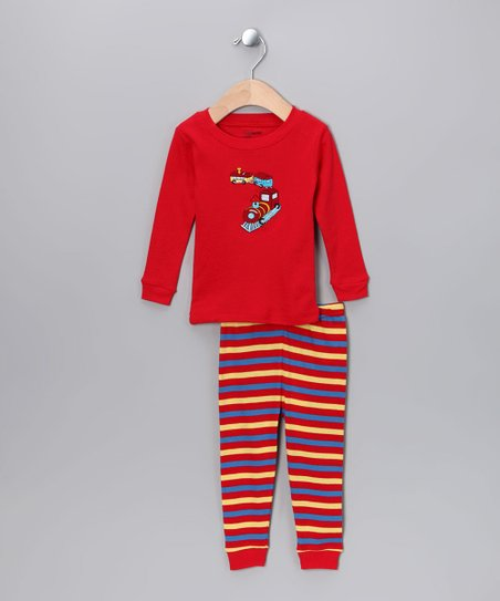 Red Choo-Choo Train Pajama Set - Infant
