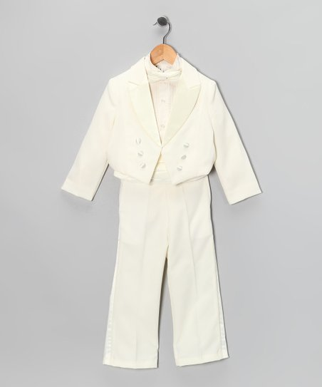 Ivory Five-Piece Tuxedo Set - Infant, Toddler & Boys