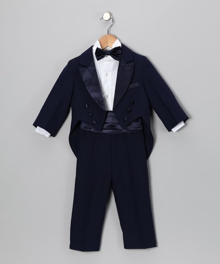 Midnight Five-Piece Tuxedo Set - Infant, Toddler & Boys